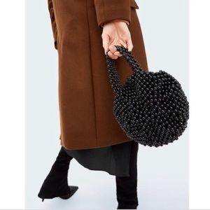 ZARA Round Mini Beaded Bucket Bag